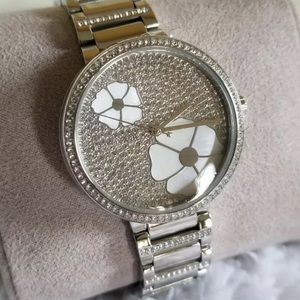 MICHAEL KORS STAINLESS COURTNEY WATCH NWOT